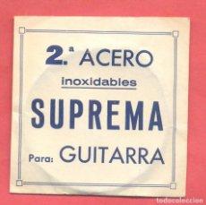 Instrumentos musicales: CUERDA PARA GUITARRA 2ª , SUPREMA EN SU SOBRE ORIGINAL, VER FOTOS. Lote 218270096