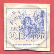Instrumentos musicales: CUERDA PARA BANDURRIA O MANDOLINA, 5ª Nº 206 ,FERRER - GATO NEGRO, EN SU SOBRE ORIGINAL, VER FOTOS. Lote 218271653