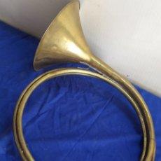 Instrumentos musicales: IMPRESIONANTE TROMPETA O CORNETA GRAN TAMAÑO SIGLO XIX. Lote 218661996