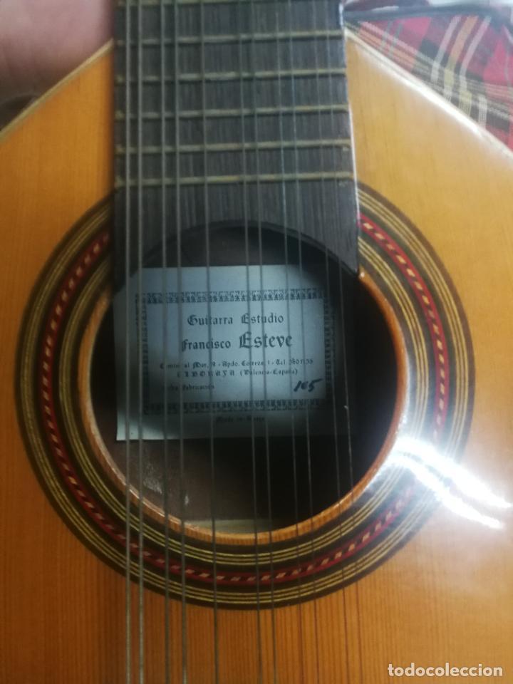 Instrumentos musicales: ANTIGUA BANDURRIA LAUD AÑOS 60 DE FRANCISCO ESTEVE VALENCIA, EN BUEN ESTADO - Foto 12 - 218713752