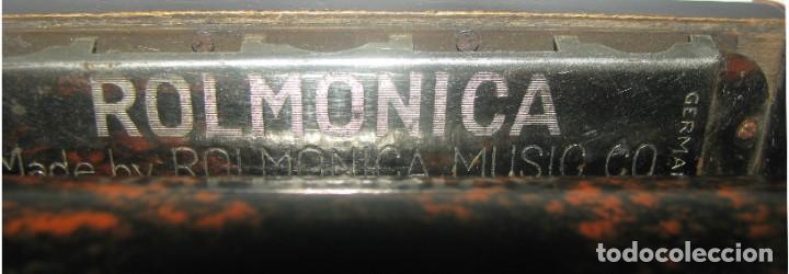 Instrumentos musicales: 969-ANTIGUA-ROLMONICA(armónica) EN BAKELITA CON 3 ROLLOS ,1928, RARÍSIMO Y CURIOSO OBJETO--FUNCIONA - Foto 4 - 218730328