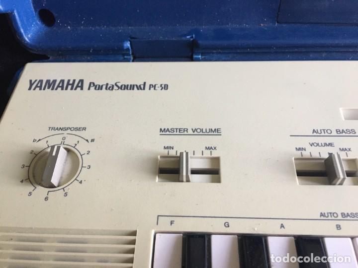 Instrumentos musicales: VINTAGE ORGANO YAMAHA PORTA SOUND PC-50 PLAY CARD KEYBOARD - Foto 2 - 219245331