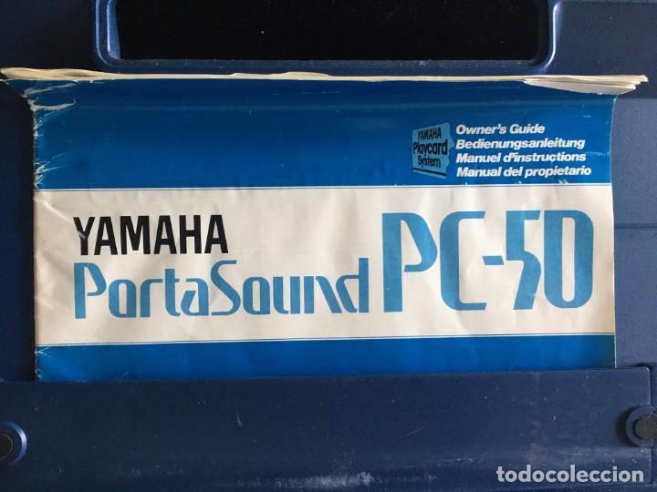 Instrumentos musicales: VINTAGE ORGANO YAMAHA PORTA SOUND PC-50 PLAY CARD KEYBOARD - Foto 9 - 219245331