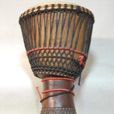 Instrumentos musicales: TAMBOR AFRICANO DJEMBE PIEL DE CABRA 60 CMS DE ALTO. Lote 219314815