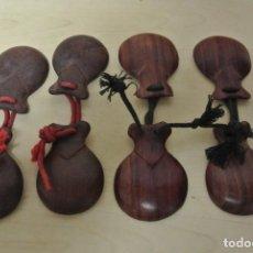 Strumenti musicali: DOS PAREJAS DE CASTAÑUELAS O POSTIZAS , MURCIA. Lote 219557532