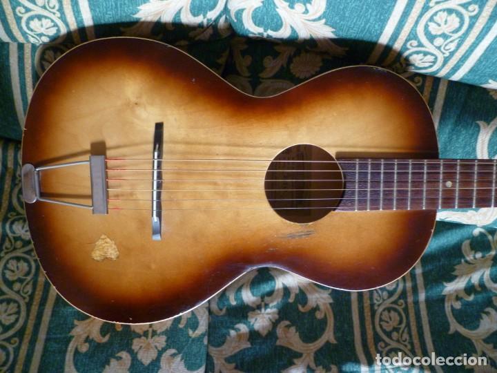Instrumentos musicales: Antigua guitarra parlor Framus - Foto 3 - 219884821