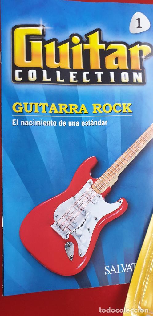 GUITARRA-COLECCIONISTA-JIMI HENDRIX-TAMAÑO-VER FOTOS-COLECCIONABLE-SALVAT-CLASICO-CON FASCICULO (Música - Instrumentos Musicales - Cuerda Antiguos)