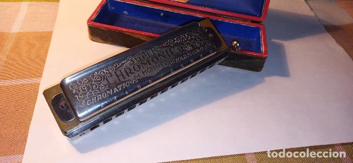 ARMONICA SUPER CHROMONICA. AÑOS 60. MUY BIEN CONSERVADA Y FUNCIONANDO. DESCRIPCION Y FOTOS. (Música - Instrumentos Musicales - Viento Metal)