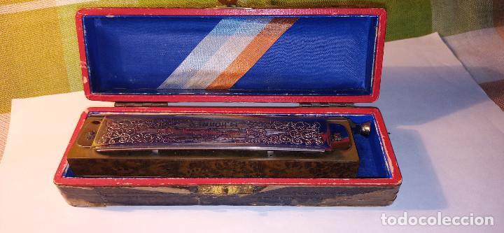 Instrumentos musicales: ARMONICA SUPER CHROMONICA. AÑOS 60. MUY BIEN CONSERVADA Y FUNCIONANDO. DESCRIPCION Y FOTOS. - Foto 7 - 220162591