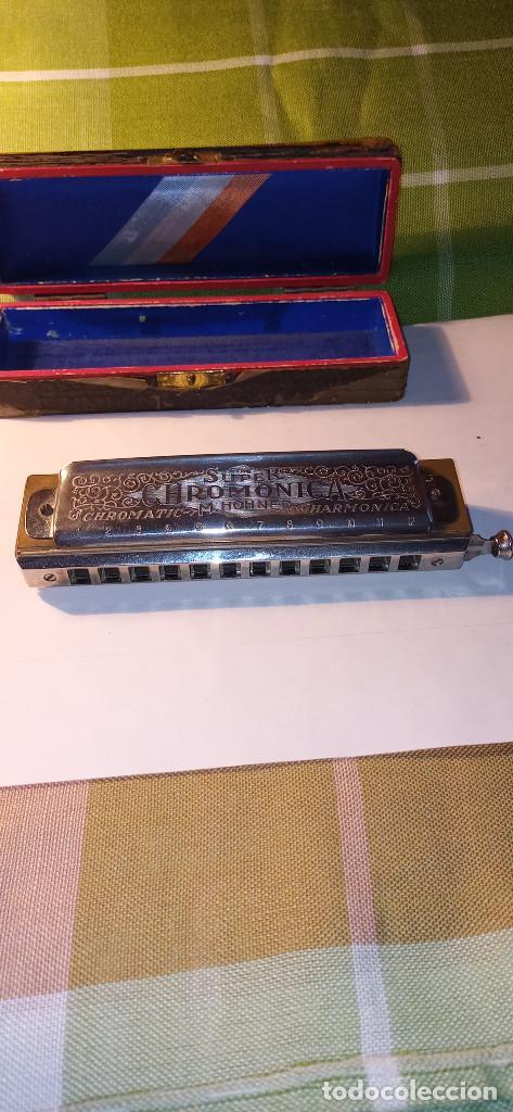 Instrumentos musicales: ARMONICA SUPER CHROMONICA. AÑOS 60. MUY BIEN CONSERVADA Y FUNCIONANDO. DESCRIPCION Y FOTOS. - Foto 9 - 220162591