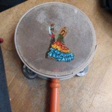 Instrumentos musicales: ANTIGUA PANDERETA DE MADERA Y PIEL.. Lote 220462500