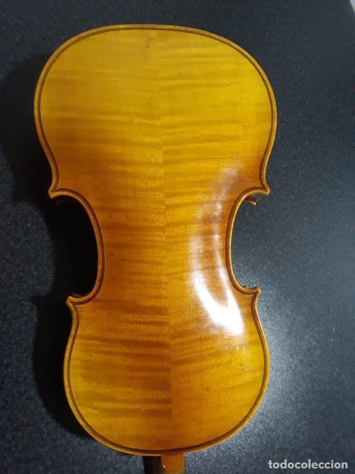 Instrumentos musicales: mandolina italiana antonio monzino milano siglo xix - Foto 5 - 196075545
