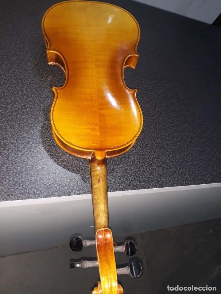 Instrumentos musicales: mandolina italiana antonio monzino milano siglo xix - Foto 7 - 196075545