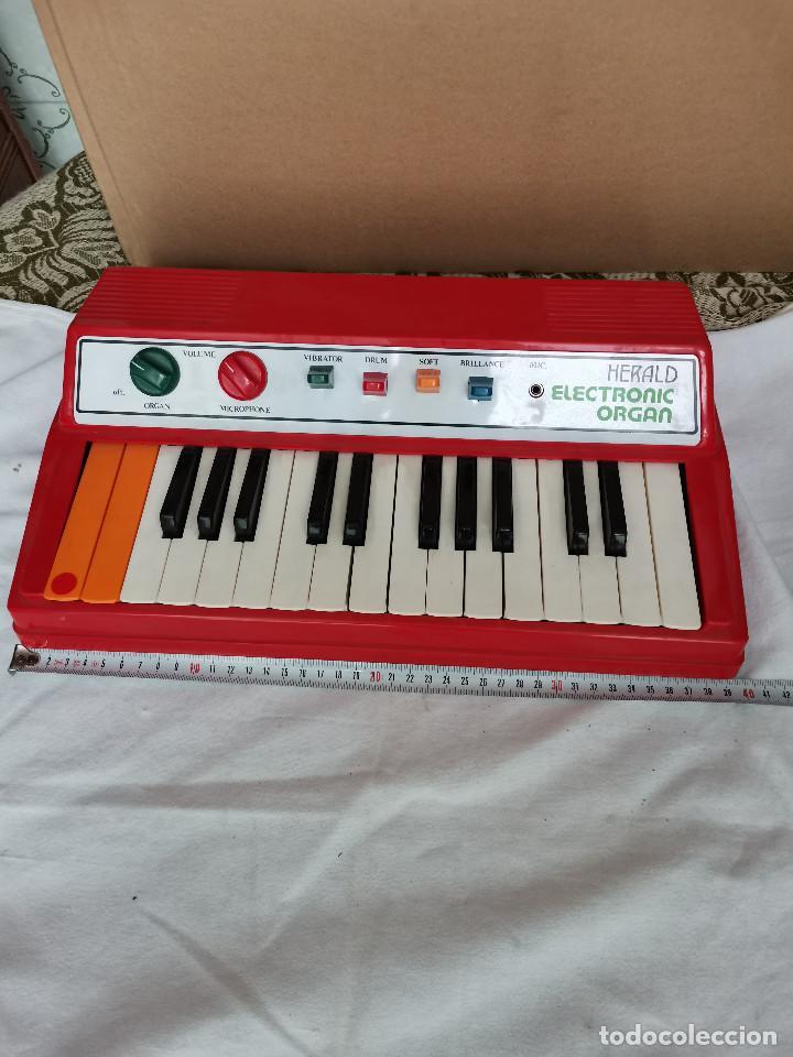 Instrumentos musicales: rareza coleccionistas antiguo Organo piano electronico HERALD años 80 Tipo Casio no Casiotone - Foto 2 - 220727791