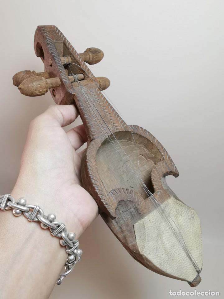 Instrumentos musicales: ANTIGUO RABEL ARTESANAL-HOMEMADE..ARTE PASTORIL- PASTOR - Foto 3 - 220828776