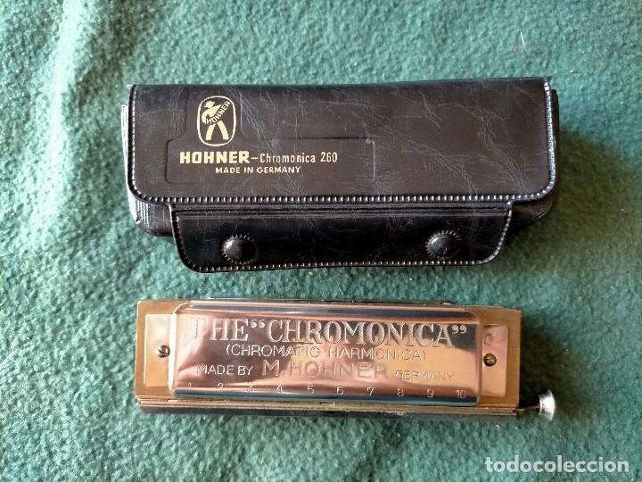 Instrumentos musicales: ARMÓNICA HOHNER PROFESIONAL.. THE CHROMONICA. GERMANY. CON FUNDA ORIGINAL. - Foto 2 - 220916226