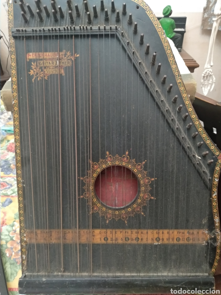 MUY ANTIGUA CITARA (Música - Instrumentos Musicales - Cuerda Antiguos)