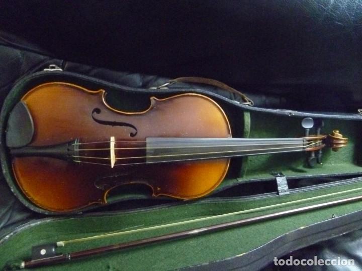ANTIGUO VIOLÍN 4X4 ETIQUETA ANTONIO STRADIVARIUS (Música - Instrumentos Musicales - Cuerda Antiguos)