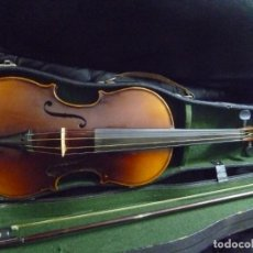 Instrumentos musicales: ANTIGUO VIOLÍN 4X4 ETIQUETA ANTONIO STRADIVARIUS. Lote 221554087