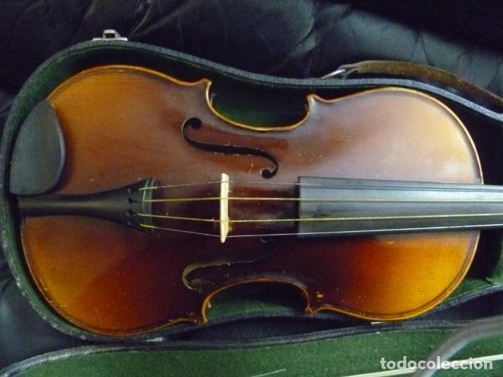 Instrumentos musicales: Antiguo violín 4x4 etiqueta Antonio Stradivarius - Foto 2 - 221554087