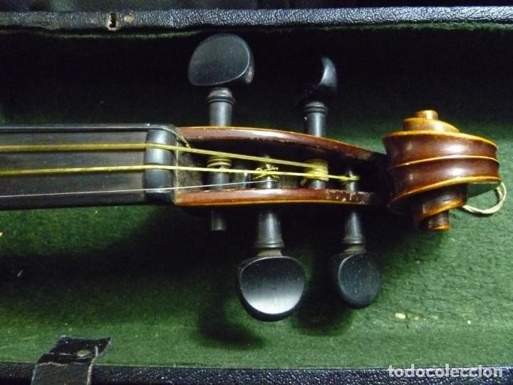 Instrumentos musicales: Antiguo violín 4x4 etiqueta Antonio Stradivarius - Foto 3 - 221554087