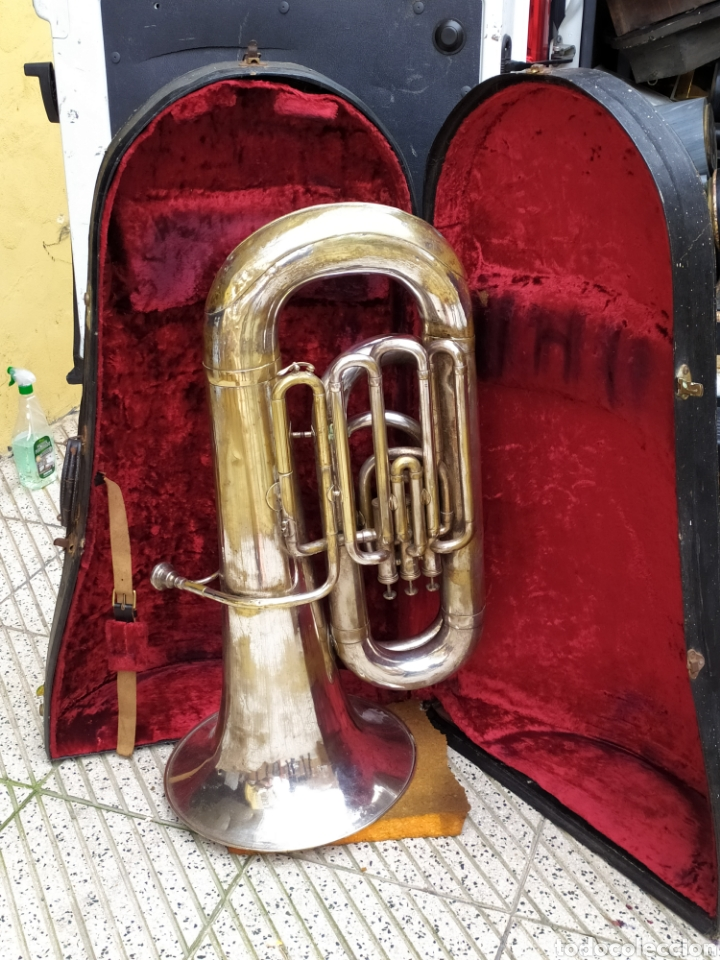 SÚPER IMPRESIONANTE INSTRUMENTO MUSICAL LONDON SIGLO XIX (Música - Instrumentos Musicales - Viento Metal)
