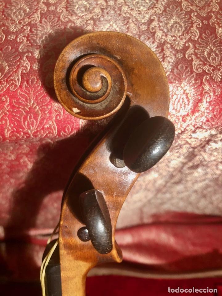 Instrumentos musicales: ANTIGUO VIOLIN. ESTILO MAGGINI. CAJA CON DECORACIÓN DOBLE FILETE. SIGLO XVIII-XIX. - Foto 11 - 221732481