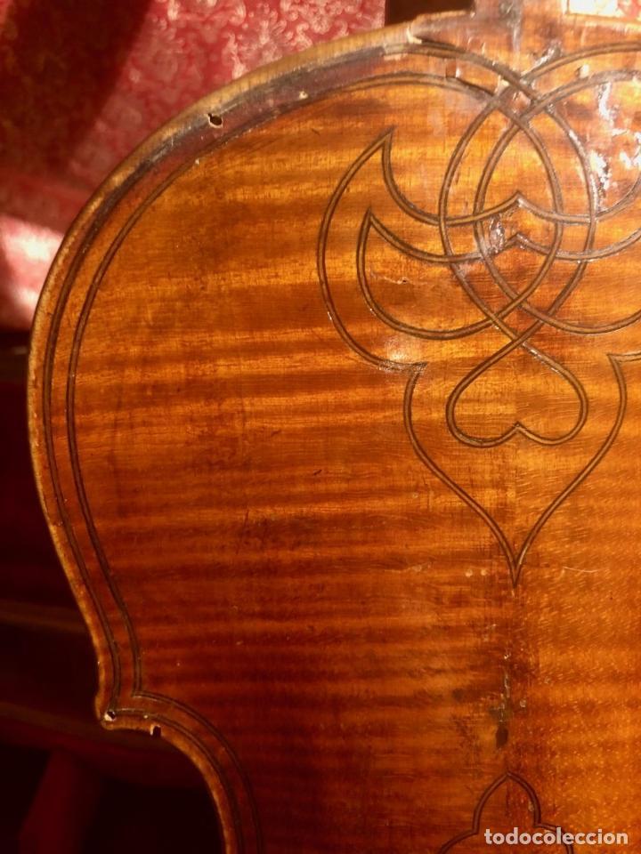 Instrumentos musicales: ANTIGUO VIOLIN. ESTILO MAGGINI. CAJA CON DECORACIÓN DOBLE FILETE. SIGLO XVIII-XIX. - Foto 22 - 221732481