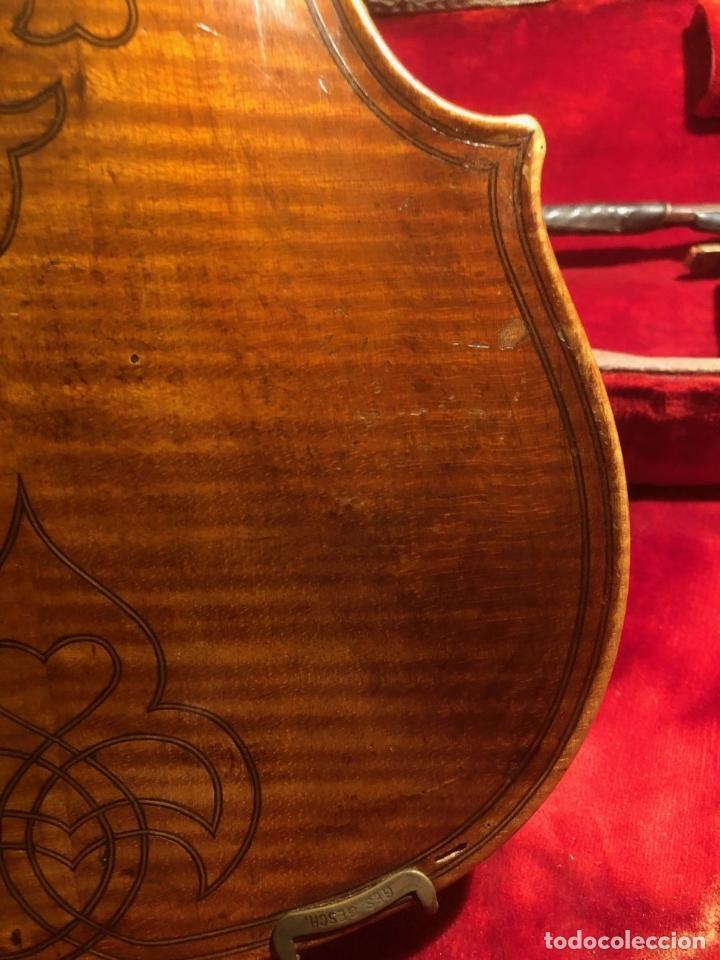 Instrumentos musicales: ANTIGUO VIOLIN. ESTILO MAGGINI. CAJA CON DECORACIÓN DOBLE FILETE. SIGLO XVIII-XIX. - Foto 25 - 221732481