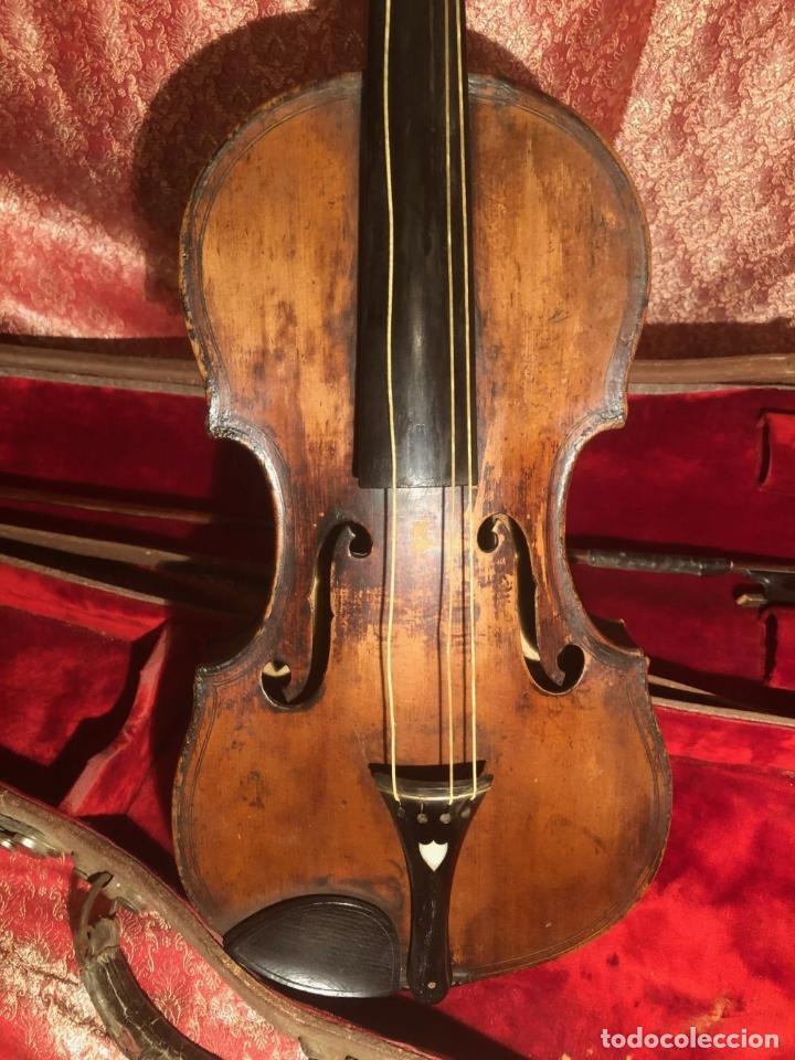 Instrumentos musicales: ANTIGUO VIOLIN. ESTILO MAGGINI. CAJA CON DECORACIÓN DOBLE FILETE. SIGLO XVIII-XIX. - Foto 28 - 221732481