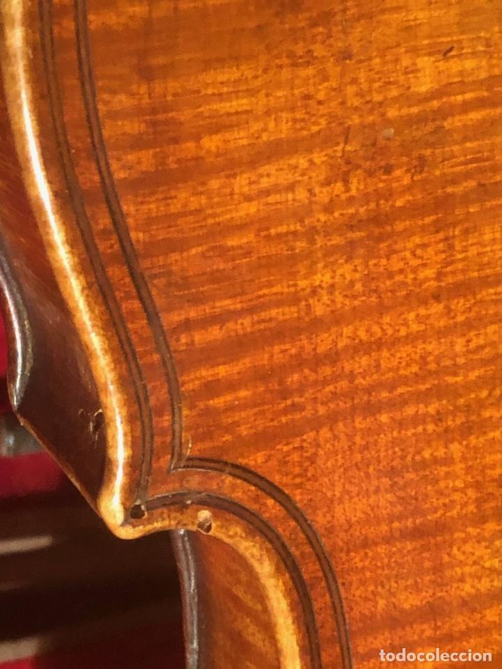 Instrumentos musicales: ANTIGUO VIOLIN. ESTILO MAGGINI. CAJA CON DECORACIÓN DOBLE FILETE. SIGLO XVIII-XIX. - Foto 30 - 221732481