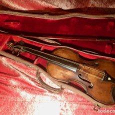 Instrumentos musicales: ANTIGUO VIOLIN. ESTILO MAGGINI. CAJA CON DECORACIÓN DOBLE FILETE. SIGLO XVIII-XIX.. Lote 221732481