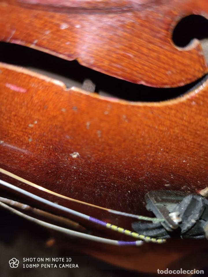 Instrumentos musicales: ANTIGUO VIOLIN INTERIOR FIRMA Antonius Stradiuarius MALETIN 76 cm violin 59 cm x 36 longitud 620,00 - Foto 25 - 202556562