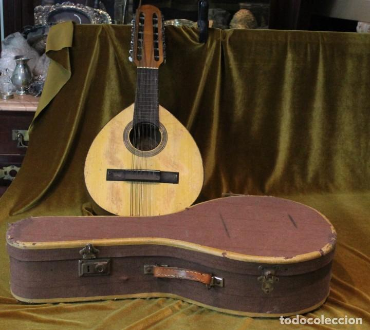 BANDURRIA, 60 X 28 CM, TELESFORO JULVE, VALENCIA, COMPLETA (Música - Instrumentos Musicales - Cuerda Antiguos)
