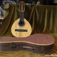 Instrumentos musicales: BANDURRIA, 60 X 28 CM, TELESFORO JULVE, VALENCIA, COMPLETA. Lote 221972225