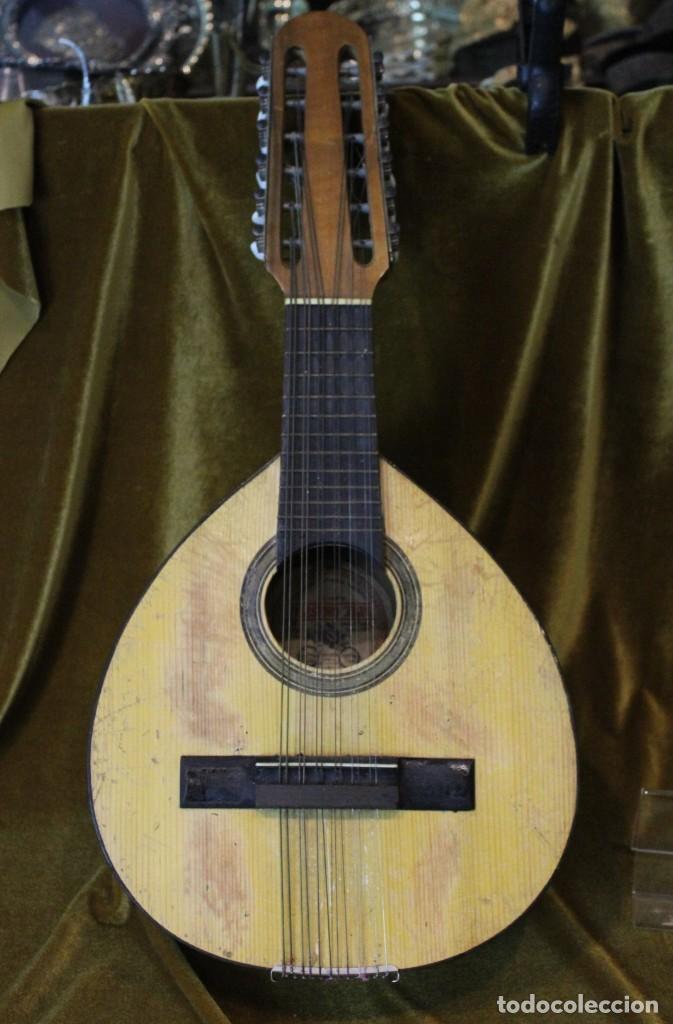 Instrumentos musicales: Bandurria, 60 x 28 cm, Telesforo Julve, Valencia, completa - Foto 2 - 221972225