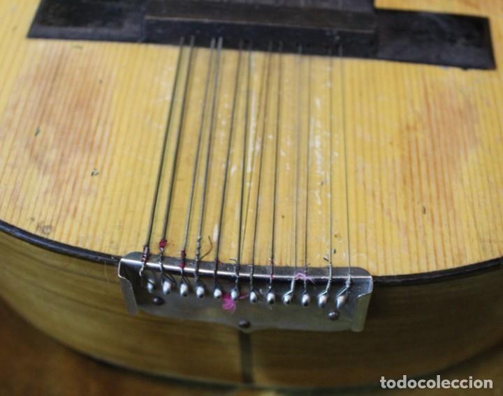 Instrumentos musicales: Bandurria, 60 x 28 cm, Telesforo Julve, Valencia, completa - Foto 4 - 221972225