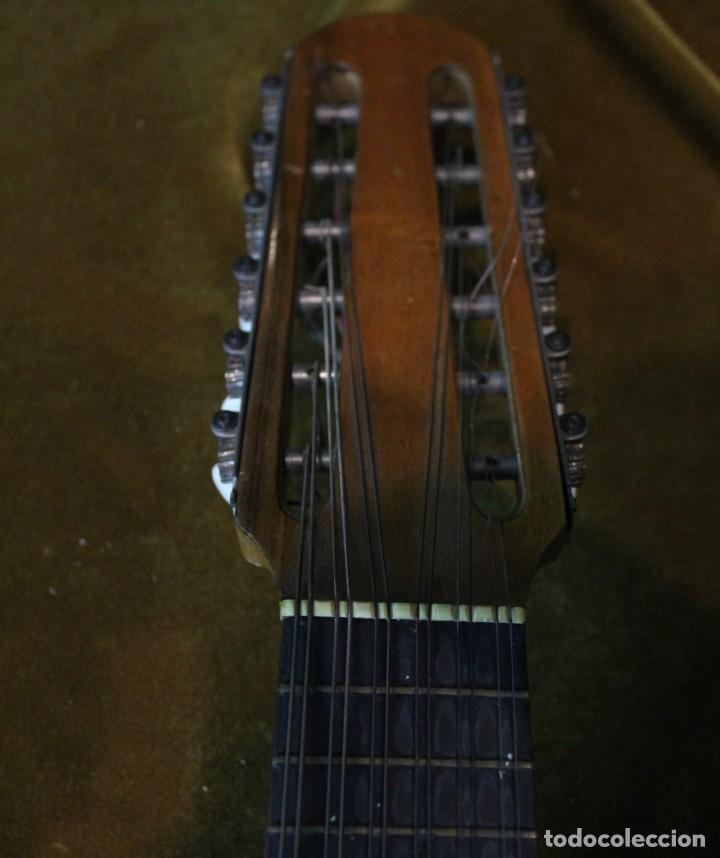 Instrumentos musicales: Bandurria, 60 x 28 cm, Telesforo Julve, Valencia, completa - Foto 5 - 221972225
