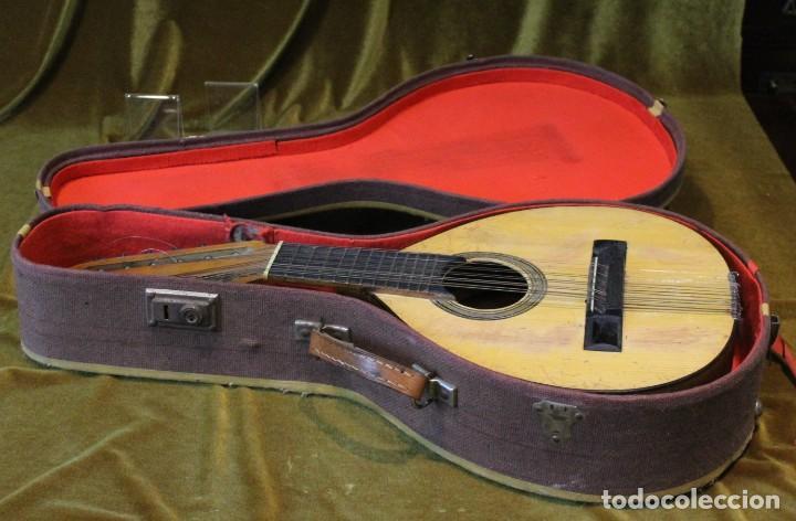 Instrumentos musicales: Bandurria, 60 x 28 cm, Telesforo Julve, Valencia, completa - Foto 7 - 221972225