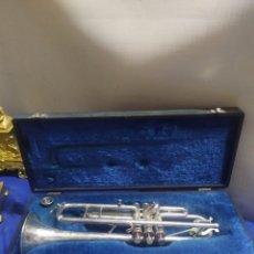 Instrumentos Musicais: ANTIGUA TROMPETA UNIVERSAL EN ESTUCHE SIGLOXIX. Lote 222175240