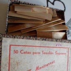 Instrumentos musicales: CAJA CON CAÑAS PARA SAXOFON SOPRANO. Lote 222395188