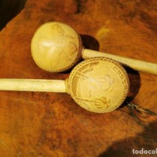 Instrumentos musicales: MARACAS DE MADERA DE COSTA RICA. Lote 222522953
