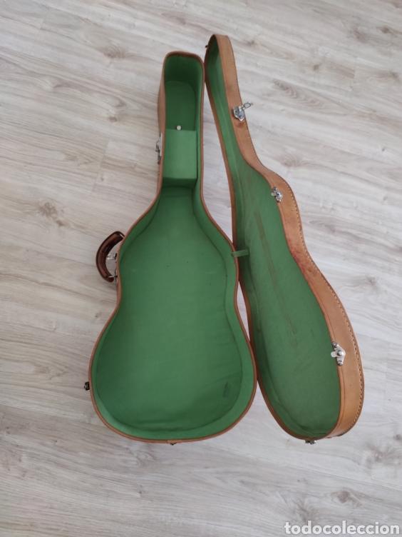 Instrumentos musicales: Estuche de guítarra antiguo de cuero original no polipiel old guitar case - Foto 7 - 222560316