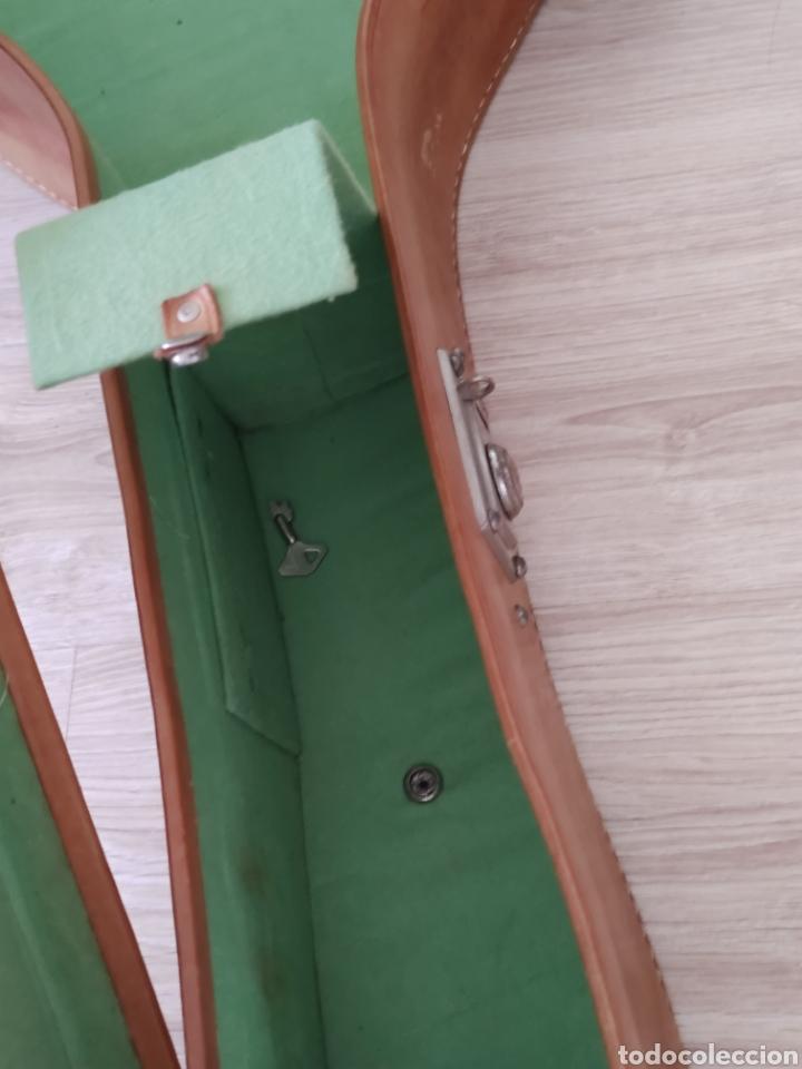 Instrumentos musicales: Estuche de guítarra antiguo de cuero original no polipiel old guitar case - Foto 9 - 222560316