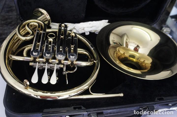 Instrumentos musicales: Trompa marca Conductor, Conservatorio. French Horn, Corno Francés. - Foto 2 - 222571455