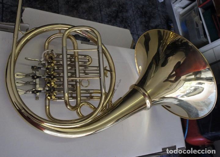 Instrumentos musicales: Trompa marca Conductor, Conservatorio. French Horn, Corno Francés. - Foto 11 - 222571455