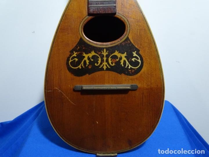 Instrumentos musicales: BANDOLIN A. WAGNER Y LEVIEN SUCS.MEXICO.ULTIMO MODELO DE LEON FRANCHETTE.CHICAGO. - Foto 2 - 222614916