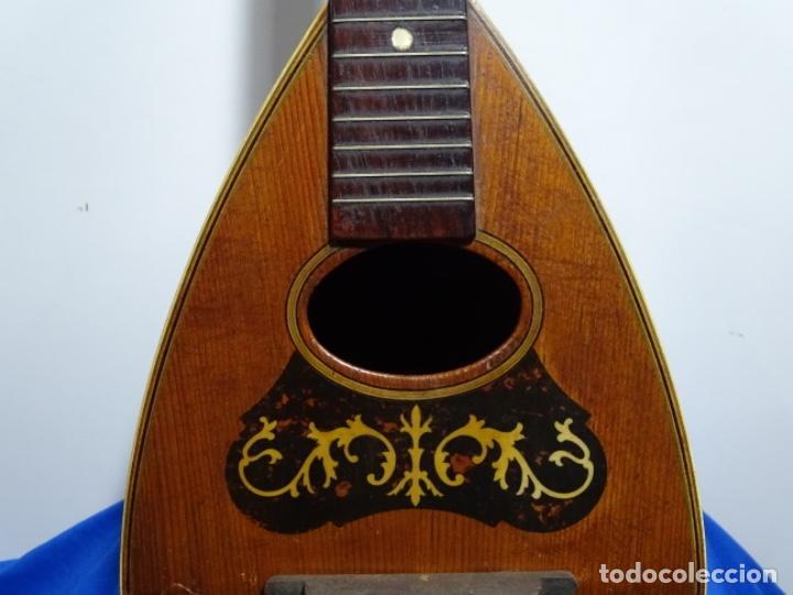 Instrumentos musicales: BANDOLIN A. WAGNER Y LEVIEN SUCS.MEXICO.ULTIMO MODELO DE LEON FRANCHETTE.CHICAGO. - Foto 3 - 222614916