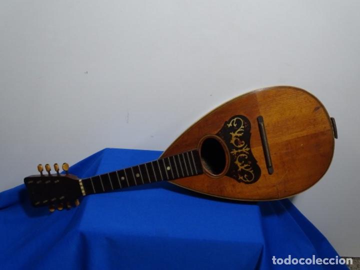 Instrumentos musicales: BANDOLIN A. WAGNER Y LEVIEN SUCS.MEXICO.ULTIMO MODELO DE LEON FRANCHETTE.CHICAGO. - Foto 11 - 222614916