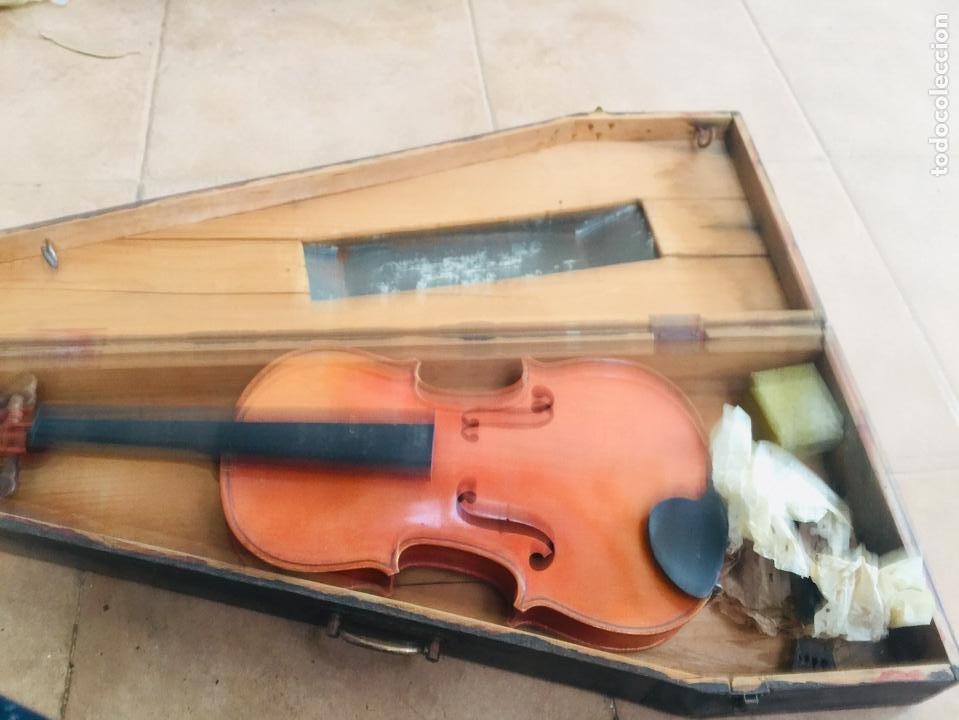 Instrumentos musicales: Violin antiguo frances tomas breton - Foto 2 - 222711660